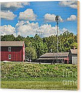 The Farmstead Wood Print