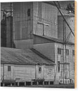 The Feed Mill Wood Print by Tamera James