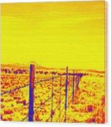 The Fence Line Wood Print