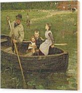 The Ferry Wood Print by Edward Stott