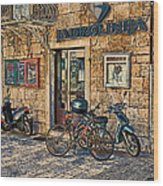 The Ferry Ticket Office Corfu Croatia Wood Print