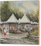 The Festival Wood Print
