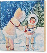 The Figure Skater 2 Wood Print