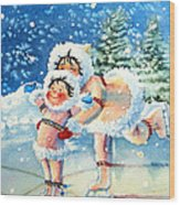 The Figure Skater 4 Wood Print