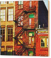 The Fire Escape Wood Print