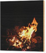 The Fire Inside Wood Print
