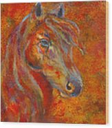 The Fire Of Passion Wood Print