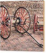 The Firehouse Wood Print