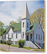 The First Christian Church Of Harriman 2 Wood Print
