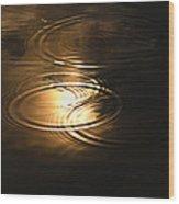 The First Drops Of Rain Wood Print