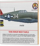 The First  Red Tails Wood Print