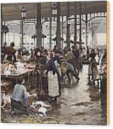 The Fish Hall At The Central Market  Wood Print