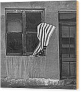 The Flag A Window And A Door Wood Print