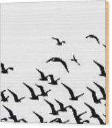 The Flock Wood Print
