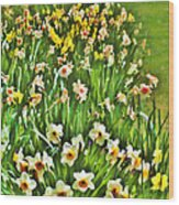 The Flower Bed Wood Print