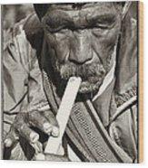 The Flute Wood Print by Skip Nall