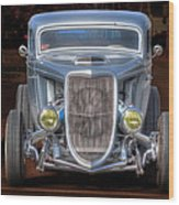The Ford Grill Wood Print