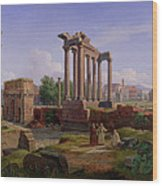 The Forum Rome  Wood Print