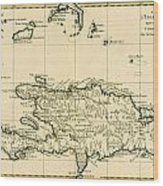 The French And Spanish Colony Of The Island Of St Dominic Of The Greater Antilles Wood Print by Guillaume Raynal
