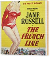 The French Line, Jane Russell, 1954 Wood Print by Everett