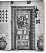 The Front Door Wood Print
