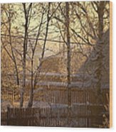 The Frosty Morning Wood Print