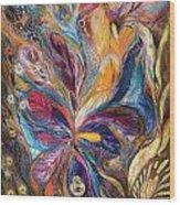 The Galilee Iris Wood Print by Elena Kotliarker