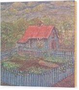 The Garden Barn At Callaway Gardens Wood Print