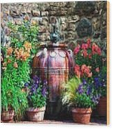 The Garden Cistern Wood Print