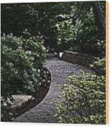 The Garden Path Wood Print