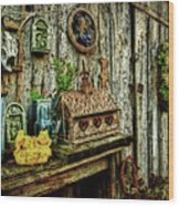 The Garden Shed Wood Print by Kathy Jennings