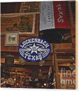The General Store In Luckenbach Tx Wood Print