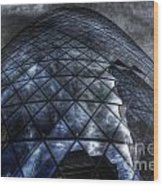 The Gherkin - Neckbreaker View Wood Print