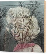 The Ghost Of Norma Jean Wood Print
