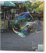 The Giant Bubble At Bethesda Terrace Wood Print