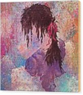 The Girl Of Many Colors Wood Print