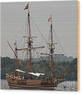 The God Speed Tall Ship Wood Print