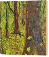 The Golden Forest Wood Print
