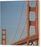 The Golden Gate Bridge At Dawn Wood Print