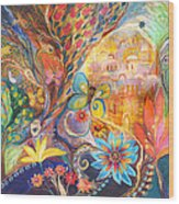The Golden Jerusalem Wood Print by Elena Kotliarker