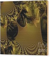 The Golden Mascarade Wood Print