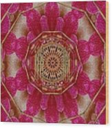 The Golden Orchid Mandala Wood Print