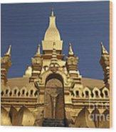 The Golden Palace Laos Wood Print