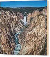 The Grand Canyon Of Yellowstone Wood Print