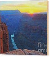 The Grand Canyon Solitude At Toroweap Wood Print