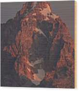 The Grand Teton At Sunrise Wood Print