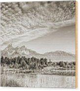 The Grand Tetons In Jackson Wyoming Wood Print