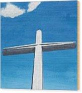 The Great Cross - Risen Wood Print