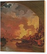 The Great Fire Of London Wood Print