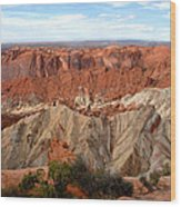 The Great Upheaval Dome Wood Print